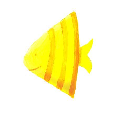 yellow triangular fish