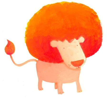 comic lion with huge afro look Stock Photo - 4815557