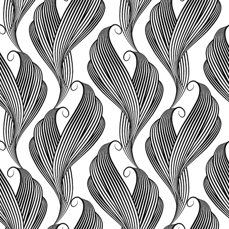 tracery: Monochrome vector seamless background. Beautiful tracery design.