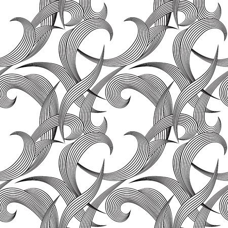 Monochrome geometric modern seamless background. Contemporary vector decorative pattern. Ilustrace