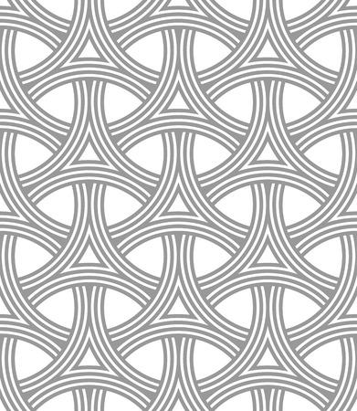interlocking: Seamless Geometric Pattern of Interlocking Rings, Circular Grid. Monochrome background vector design.