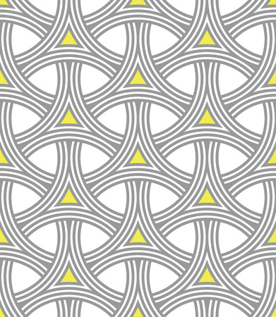 interlocking: Seamless Geometric Pattern of Interlocking Rings, Circular Grid. Modern background vector design.