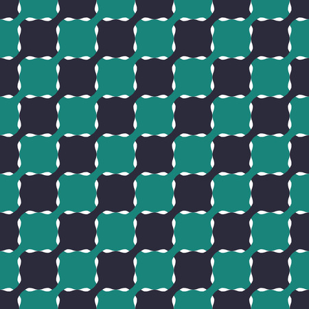 interlocking: Seamless Geometric Pattern of Interlocking Wavy Squares. Three-color background vector design. Illustration
