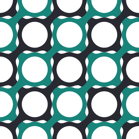 grid pattern: Seamless Geometric Pattern of Interlocking Shapes. Three-color background vector design.