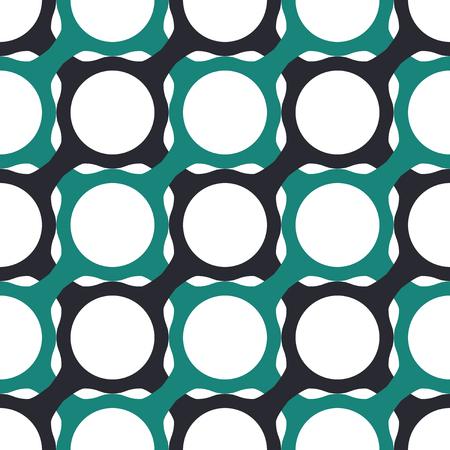 interlocking: Seamless Geometric Pattern of Interlocking Shapes. Three-color background vector design.