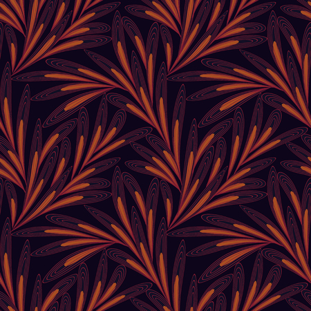 subdued: Vector Seamless pattern with leaves of Australian aboriginal-inspired. Modern abstract background in subdued, tasteful colors. Easy to edit. Illustration