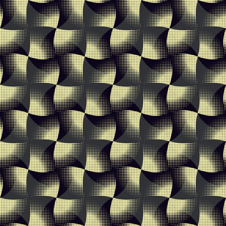 subdued: Seamless geometric pattern of wavy rhombus. Beautiful vector background in subdued colors. No Gradient. Easy to edit.