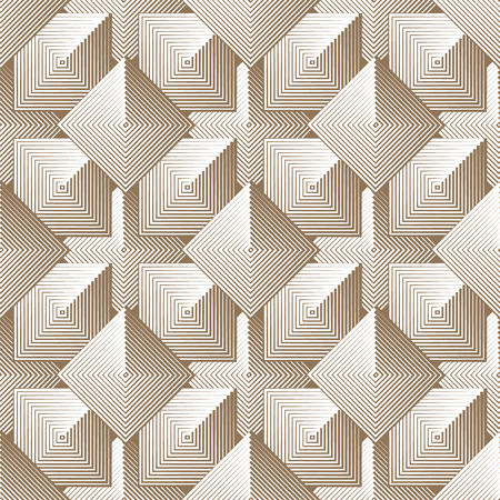 Optical seamless pattern of linear squares. geometric background in monochrome.