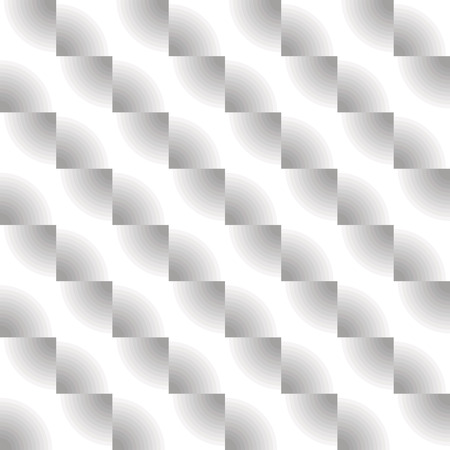 grey scale: Optical illusion, seamless diagonal zigzag pattern in grey scale. Vector metallic texture without gradient.