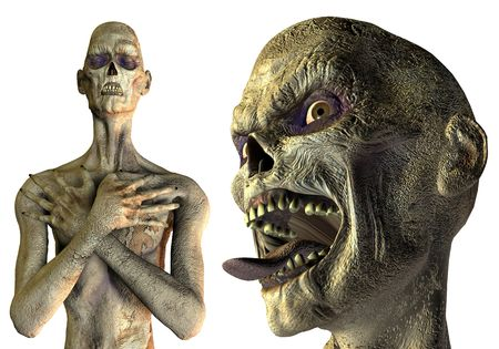3D Rendering Undead creatures of the night photo