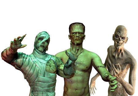 shudder: 3D Rendering of the Little Horror Show