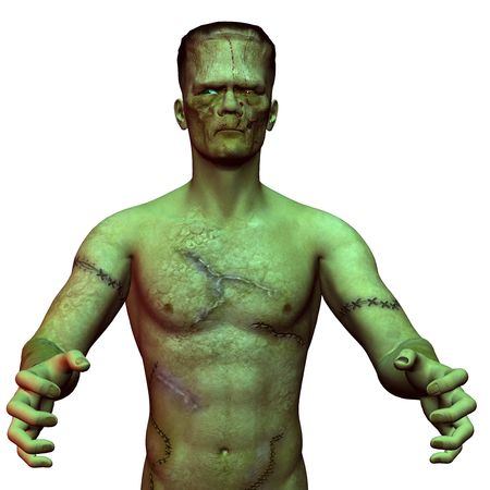 3D rendering of an undead monster Stock Photo