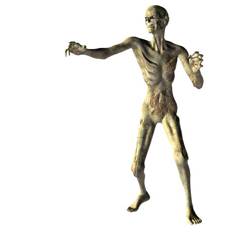 decaying: 3D rendering an undead zombies with outstretched hand