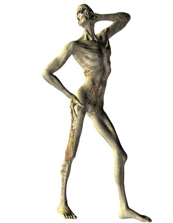 undead: 3D rendering of a zombie in Model Pose