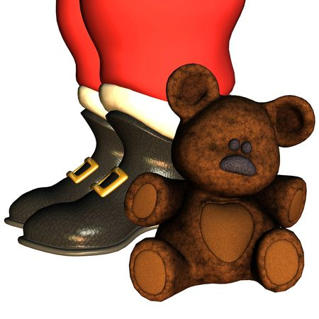 3d rendering the Santa Claus boots than illustration illustration