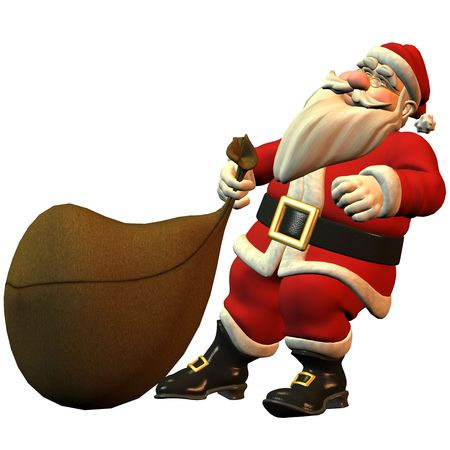 coldly: 3d rendering Santa Claus than illustration
