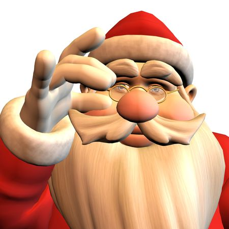 3d rendering of Santa Claus in pose as illustration illustration