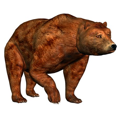 strongly: 3d render a bear than illustration Stock Photo