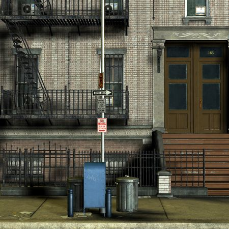 3D Rendering The streets of New York
