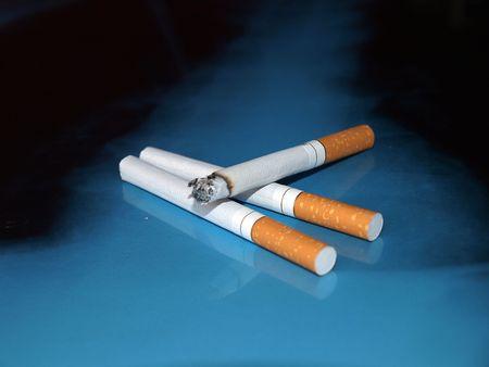 injurious:  Burning cigarette
