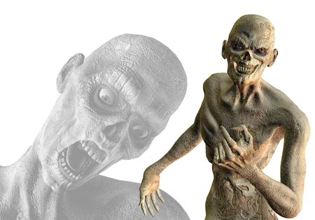 3D rendering and assembly of undead zombies Stock Photo - 7999657