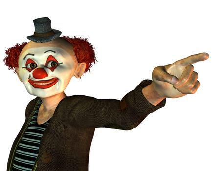 3d render of a funny clown photo