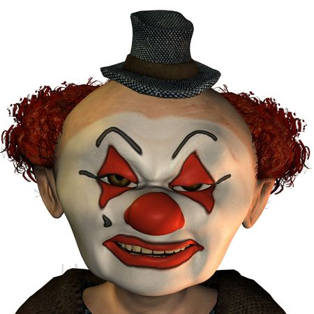 3D Rendering of a Evil clown photo