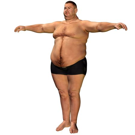slip homme: une �paisse de rendu 3D man comme illustration  Banque d'images