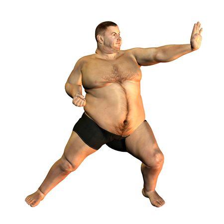 slip homme: L'homme de rendu 3D d'�paisseur dans l'illustration que posent sportive