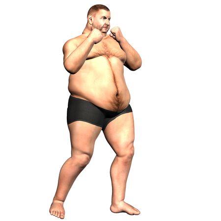 slip homme: rendu 3D une �paisse man bo�te attitude comme illustration