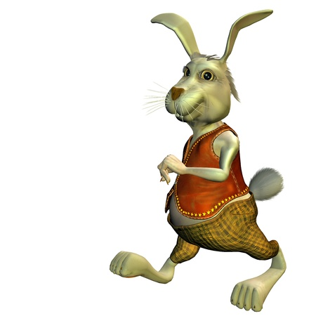 3d rendering in an Easter bunny in outfit as illustration