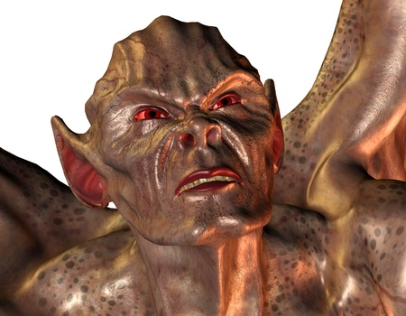 3D Rendering of a Demon with red eyes Stock Photo - 8665811