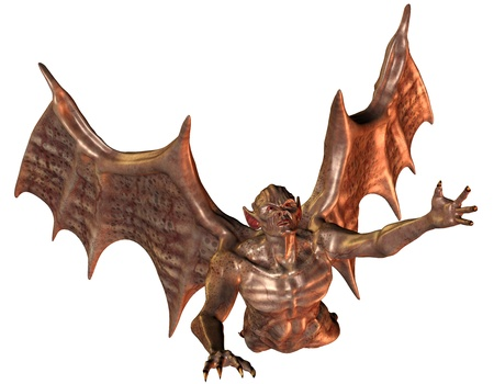 3D rendering of a flying demon Stock Photo - 8665817