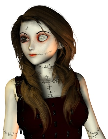 3D rendering of a monster doll with scars Stock Photo - 8833955