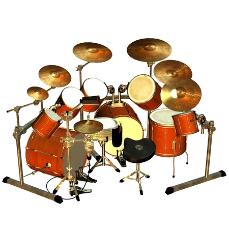 3d rendering of a drum as an illustration Stock Illustration - 8833976