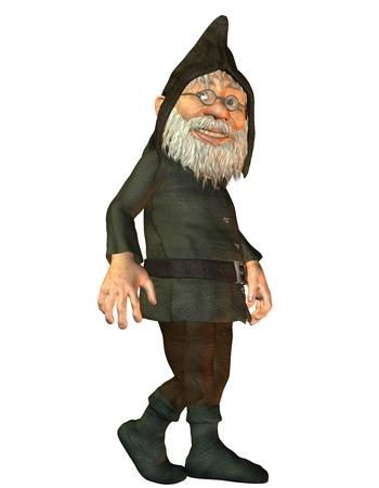 enano: Representaci�n 3D de un enano amigable Foto de archivo