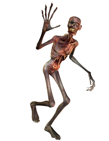 decaying: 3D Rendering of a waving Zombie