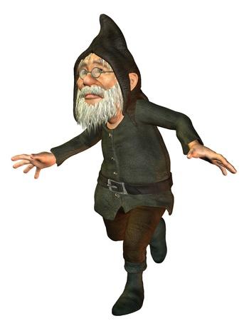 politely: 3D rendering excited final race dwarf
