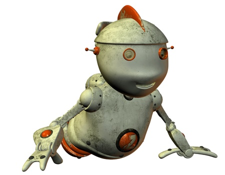 3D Rendering old crawling robot Stock Photo - 9327769