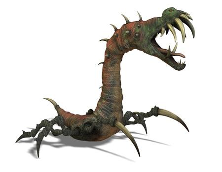 extra terrestrial: 3D rendering of a dangerous alien creature
