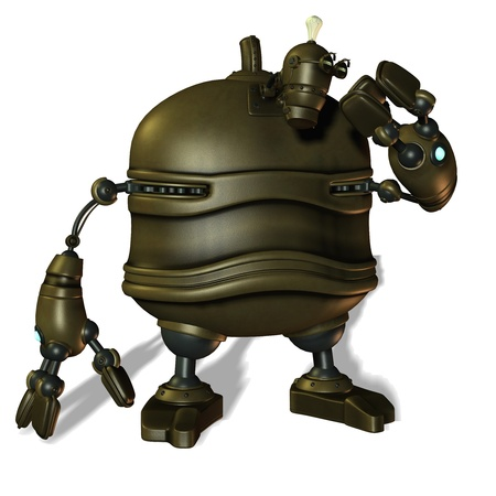 3D rendering of robotic artificial intelligence Stock Photo - 9339790