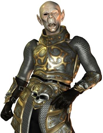 blood sucker: 3D Rendering Vampire knight in armor