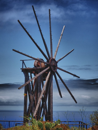 old windmill in the canary islands photo