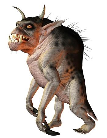 creature: 3D rendering fantasy creature hellhound