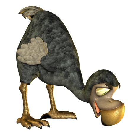 dodo: 3D Rendering Dodo as a cartoon in food intake