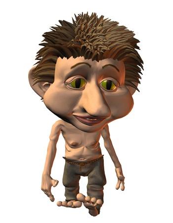 troll: 3D Rendering little troll when running