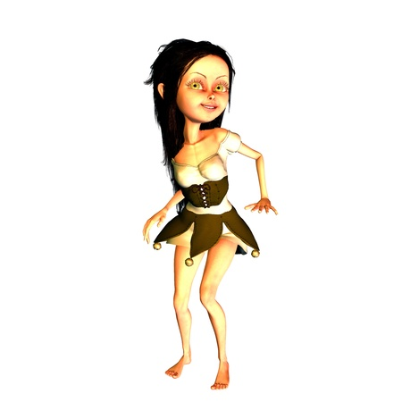 3d rendering a dancing girl as illustration