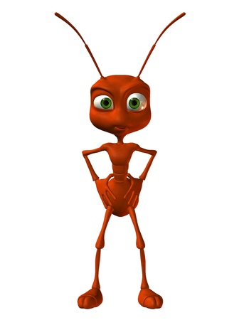 red ant: 3D Rendering little red ant Stock Photo