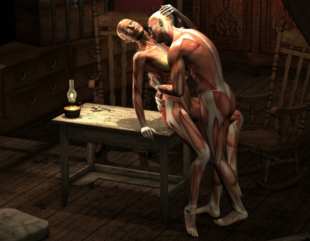 3D rendering man and woman in an erotic pose Stock Photo - 10596210