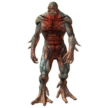 3D Rendering dangerous extraterrestrial beings